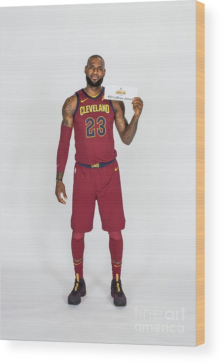 Media Day Wood Print featuring the photograph Lebron James by Michael J. Lebrecht Ii