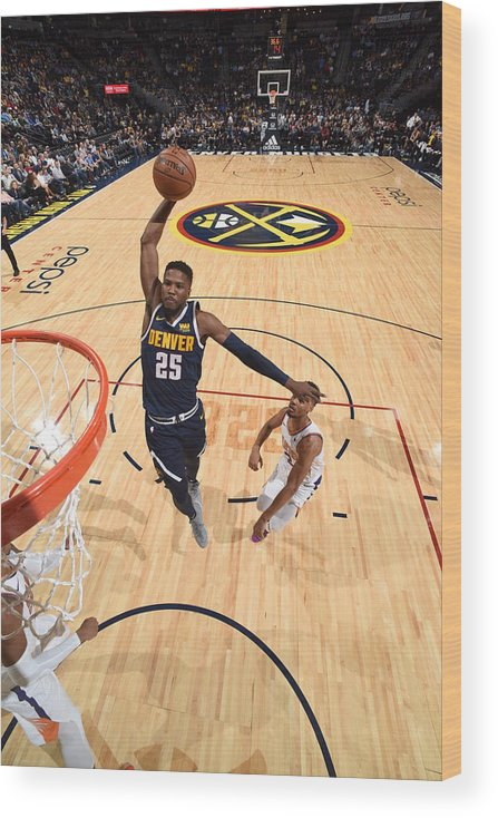 Nba Pro Basketball Wood Print featuring the photograph Malik Beasley by Garrett Ellwood