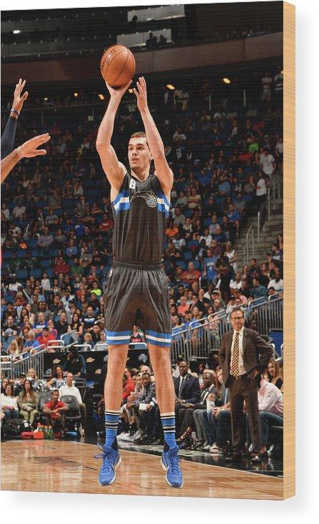 Nba Pro Basketball Wood Print featuring the photograph Mario Hezonja by Fernando Medina