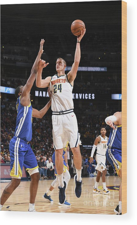 Nba Pro Basketball Wood Print featuring the photograph Mason Plumlee by Garrett Ellwood