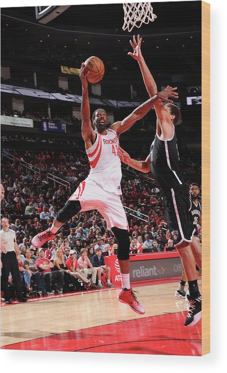 Nba Pro Basketball Wood Print featuring the photograph Nene Hilario by Bill Baptist