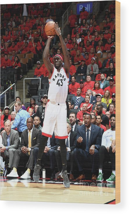 Playoffs Wood Print featuring the photograph Pascal Siakam by Andrew D. Bernstein
