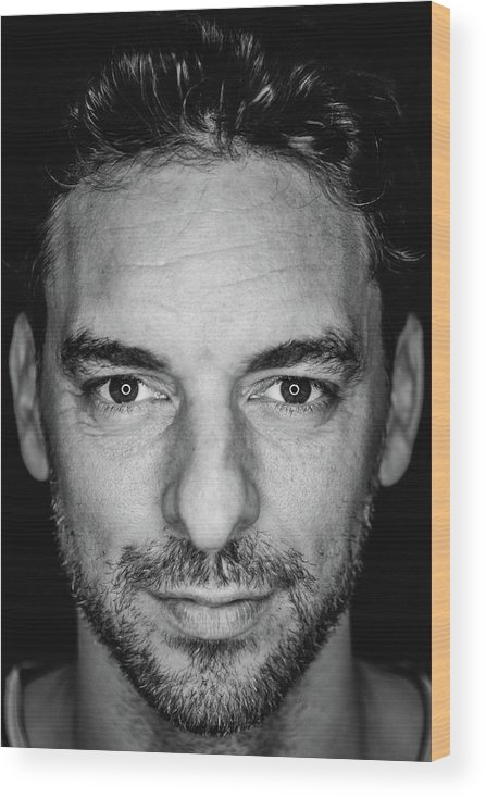Media Day Wood Print featuring the photograph Pau Gasol by Mark Sobhani