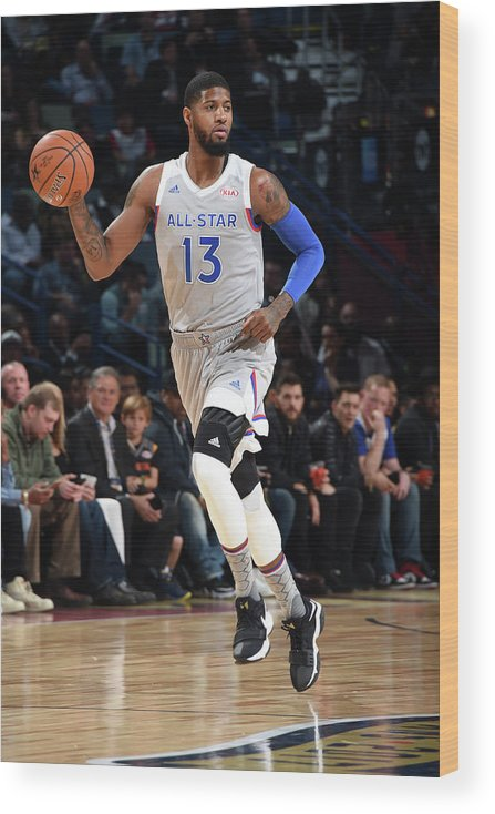 Event Wood Print featuring the photograph Paul George by Andrew D. Bernstein