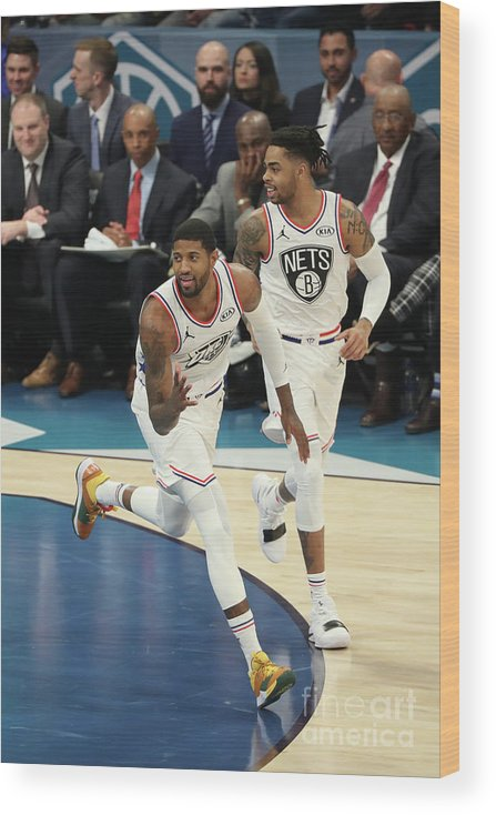 Nba Pro Basketball Wood Print featuring the photograph Paul George by Joe Murphy