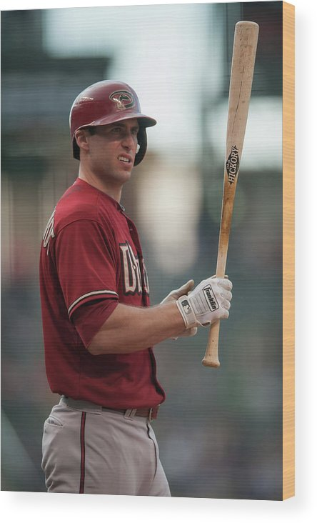 National League Baseball Wood Print featuring the photograph Paul Goldschmidt by Dustin Bradford