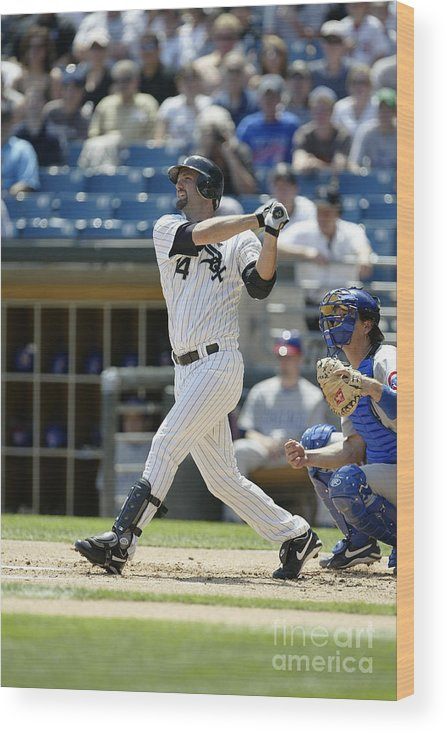 American League Baseball Wood Print featuring the photograph Paul Konerko by Ron Vesely