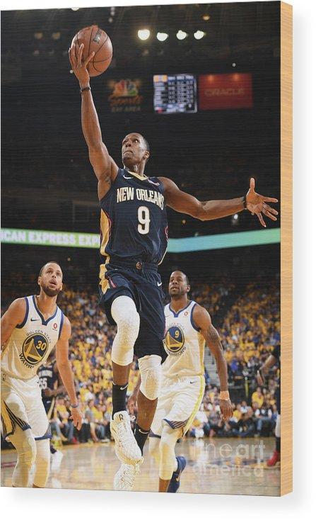 Playoffs Wood Print featuring the photograph Rajon Rondo by Garrett Ellwood