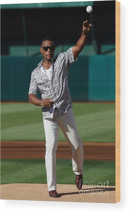 People Wood Print featuring the photograph Rickey Henderson by Jason O. Watson