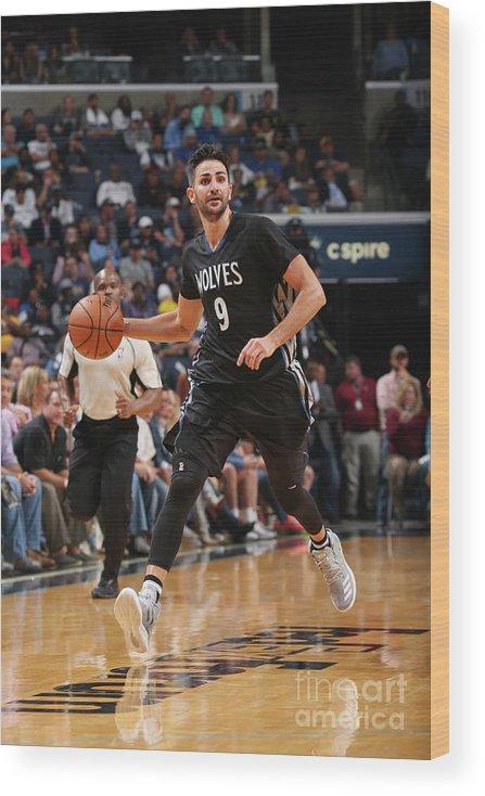 Nba Pro Basketball Wood Print featuring the photograph Ricky Rubio by Joe Murphy