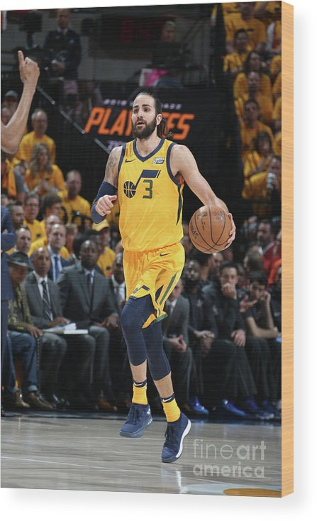 Playoffs Wood Print featuring the photograph Ricky Rubio by Melissa Majchrzak