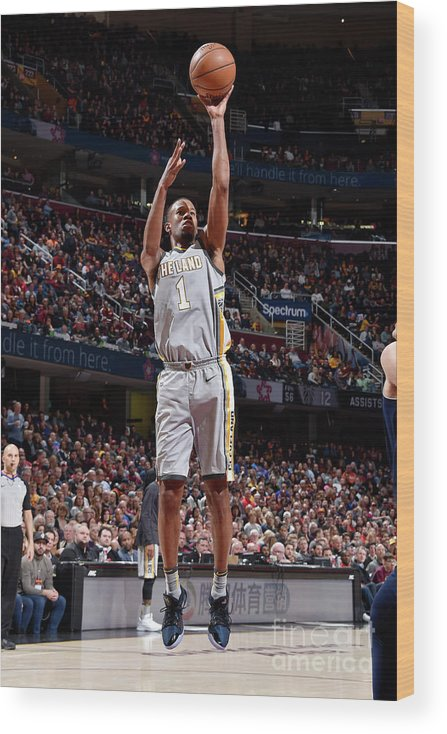 Nba Pro Basketball Wood Print featuring the photograph Rodney Hood by David Liam Kyle