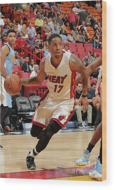 Nba Pro Basketball Wood Print featuring the photograph Rodney Mcgruder by Oscar Baldizon