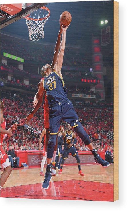 Playoffs Wood Print featuring the photograph Rudy Gobert by Bill Baptist