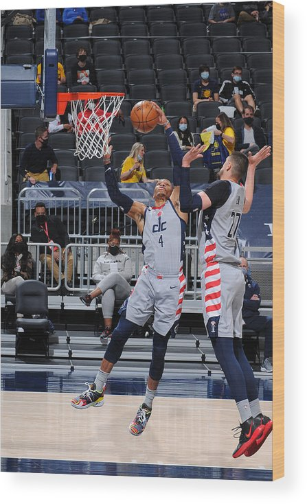 Nba Pro Basketball Wood Print featuring the photograph Russell Westbrook by Ron Hoskins