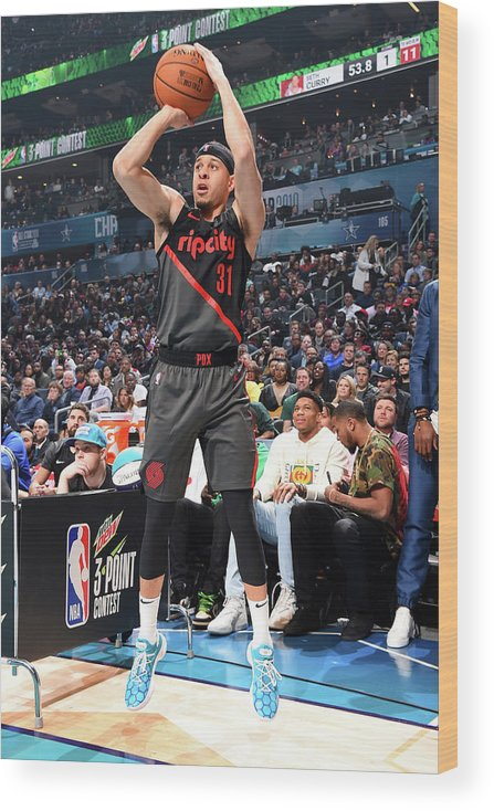 Nba Pro Basketball Wood Print featuring the photograph Seth Curry by Andrew D. Bernstein