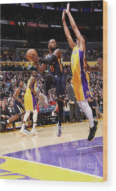 Nba Pro Basketball Wood Print featuring the photograph Shelvin Mack by Andrew D. Bernstein