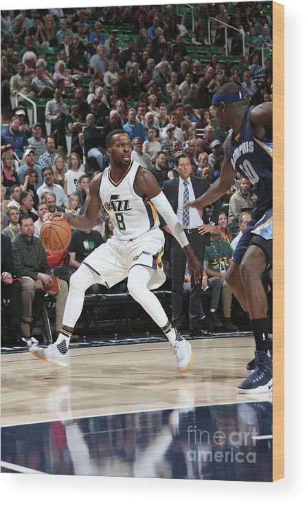 Nba Pro Basketball Wood Print featuring the photograph Shelvin Mack by Melissa Majchrzak