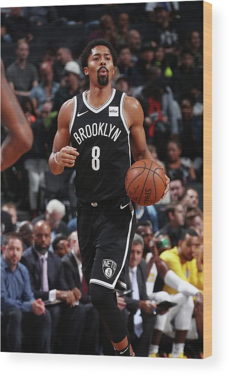 Nba Pro Basketball Wood Print featuring the photograph Spencer Dinwiddie by Nathaniel S. Butler