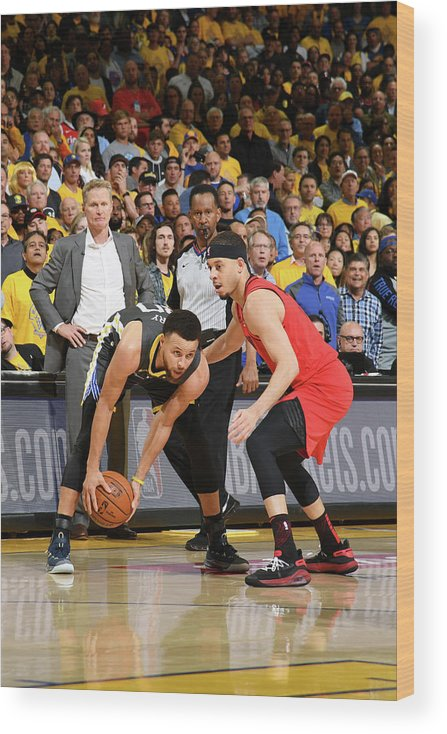 Playoffs Wood Print featuring the photograph Stephen Curry and Seth Curry by Noah Graham