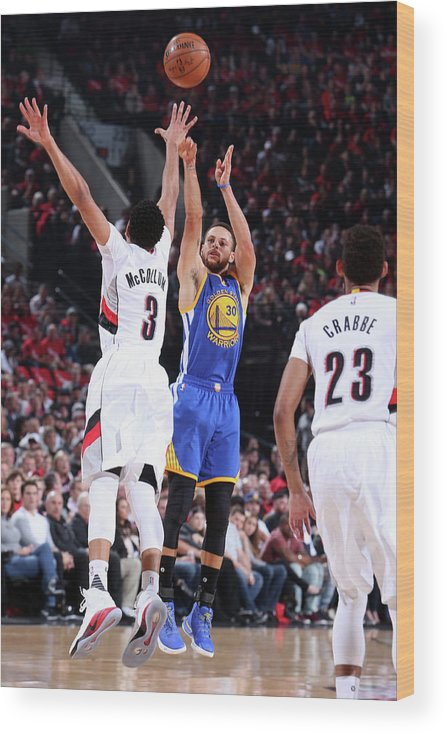 Playoffs Wood Print featuring the photograph Stephen Curry by Sam Forencich