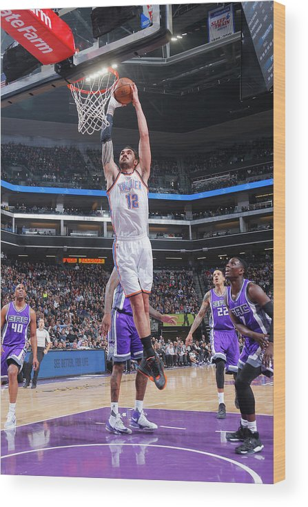 Nba Pro Basketball Wood Print featuring the photograph Steven Adams by Rocky Widner