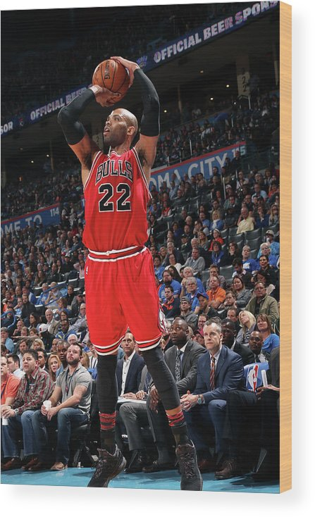 Nba Pro Basketball Wood Print featuring the photograph Taj Gibson by Layne Murdoch