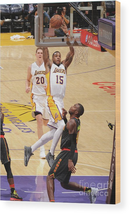 Nba Pro Basketball Wood Print featuring the photograph Thomas Robinson by Andrew D. Bernstein