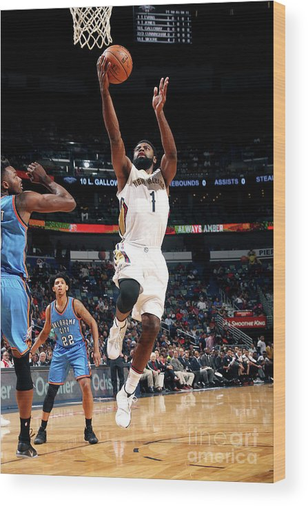 Smoothie King Center Wood Print featuring the photograph Tyreke Evans by Layne Murdoch