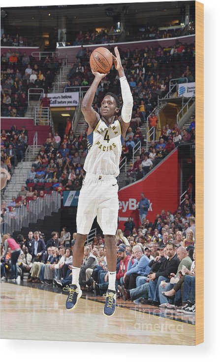Nba Pro Basketball Wood Print featuring the photograph Victor Oladipo by David Liam Kyle
