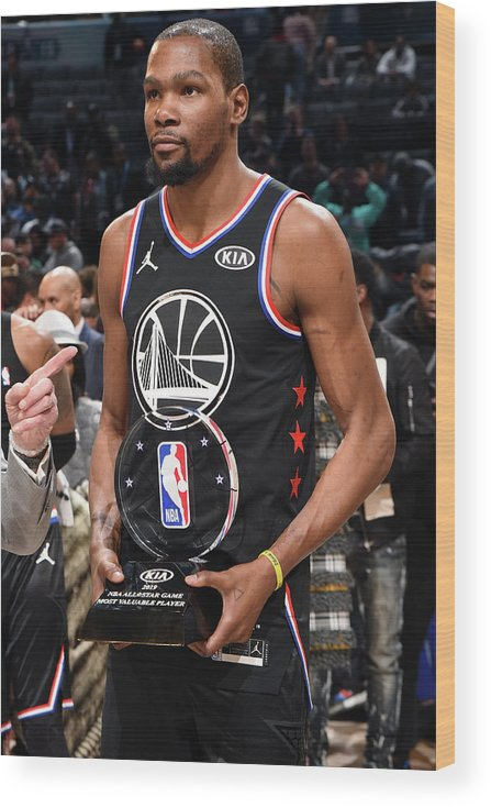 Nba Pro Basketball Wood Print featuring the photograph Kevin Durant by Andrew D. Bernstein