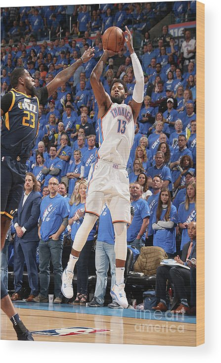 Playoffs Wood Print featuring the photograph Paul George by Layne Murdoch