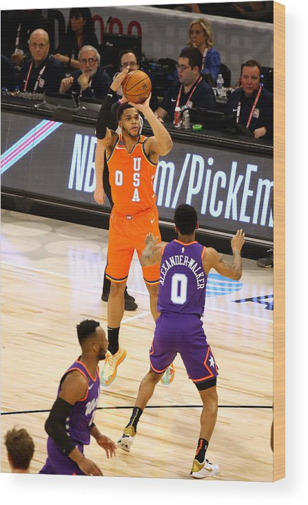 Nba Pro Basketball Wood Print featuring the photograph 2020 NBA All-Star - Rising Stars Game by David Sherman