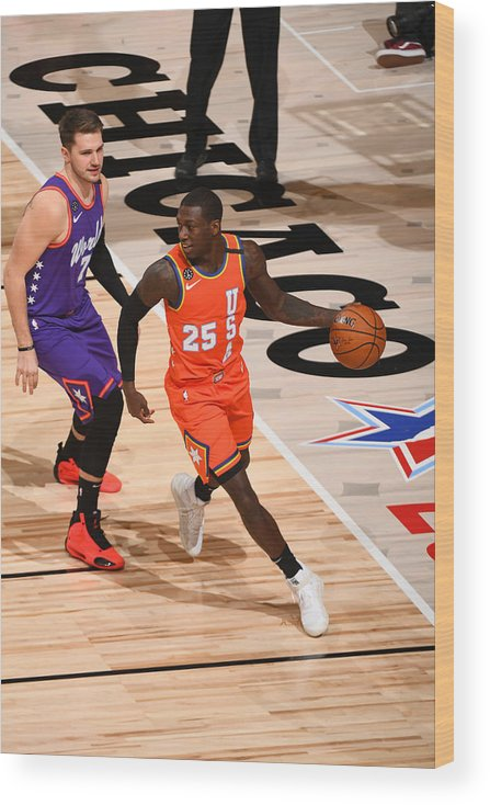 Nba Pro Basketball Wood Print featuring the photograph 2020 NBA All-Star - Rising Stars Game by Garrett Ellwood