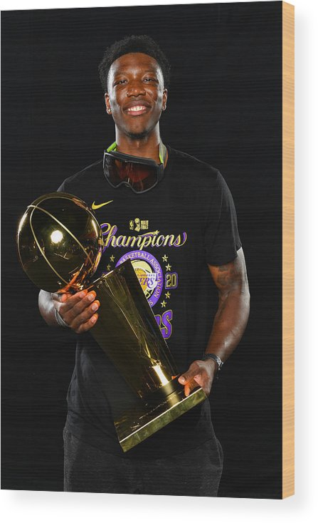 Playoffs Wood Print featuring the photograph 2020 NBA Finals - Los Angeles Lakers v Miami Heat by Jesse D. Garrabrant