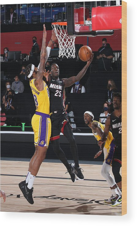 Playoffs Wood Print featuring the photograph 2020 NBA Finals - Los Angeles Lakers v Miami Heat by Nathaniel S. Butler