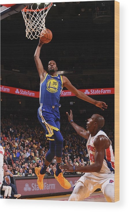Nba Pro Basketball Wood Print featuring the photograph Kevin Durant by Noah Graham