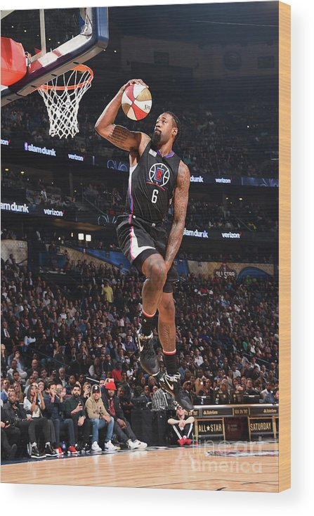 Event Wood Print featuring the photograph Deandre Jordan by Andrew D. Bernstein