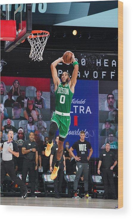 Playoffs Wood Print featuring the photograph Jayson Tatum by Jesse D. Garrabrant