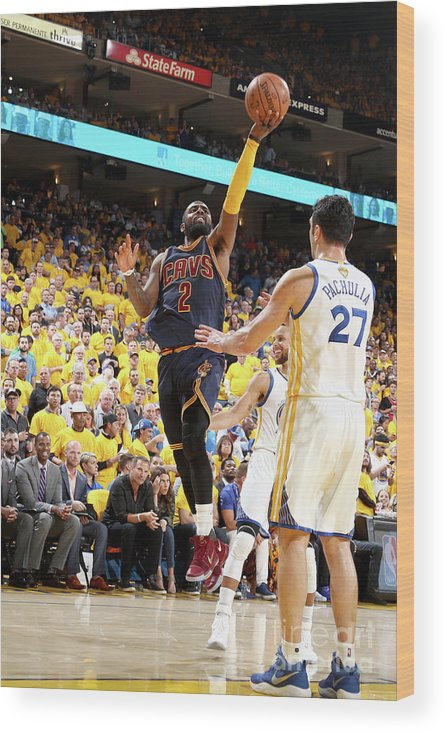 Playoffs Wood Print featuring the photograph Kyrie Irving by Nathaniel S. Butler
