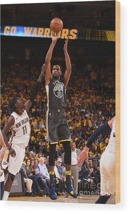 Playoffs Wood Print featuring the photograph Kevin Durant by Noah Graham