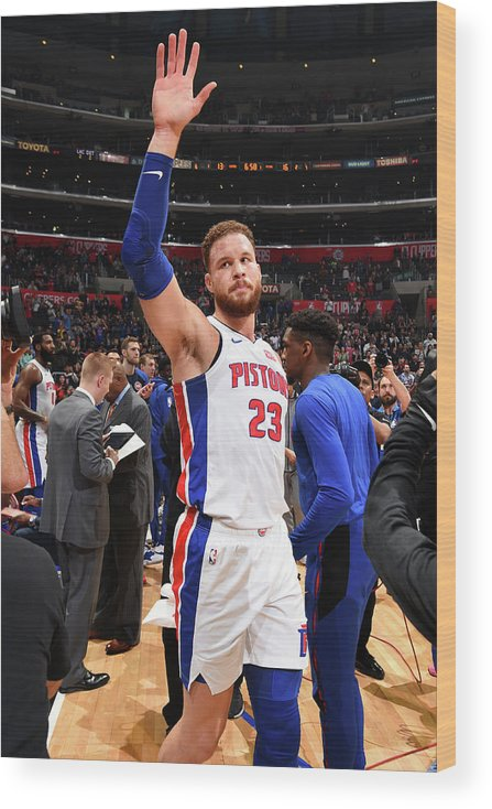 Crowd Wood Print featuring the photograph Blake Griffin by Andrew D. Bernstein