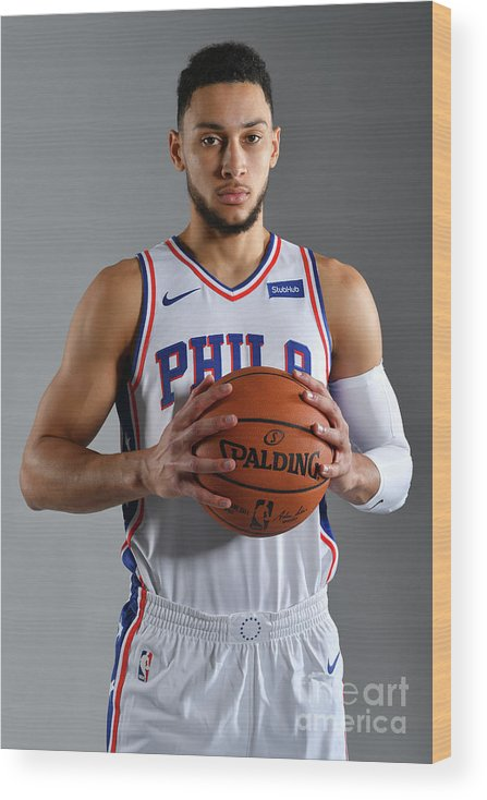 Media Day Wood Print featuring the photograph Ben Simmons by Jesse D. Garrabrant