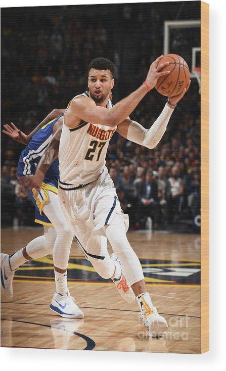 Nba Pro Basketball Wood Print featuring the photograph Jamal Murray by Garrett Ellwood