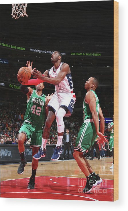 Playoffs Wood Print featuring the photograph John Wall by Ned Dishman