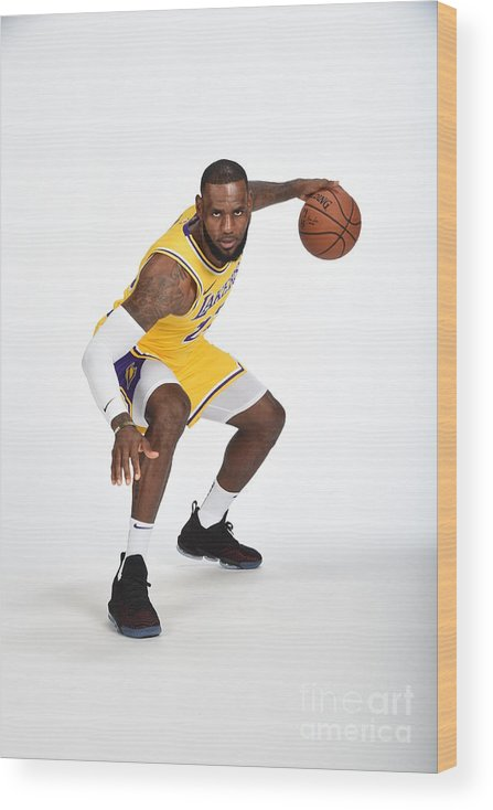 Media Day Wood Print featuring the photograph Lebron James by Andrew D. Bernstein
