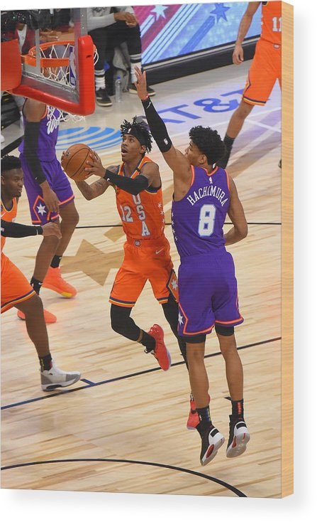 Nba Pro Basketball Wood Print featuring the photograph 2020 NBA All-Star - Rising Stars Game by Bill Baptist