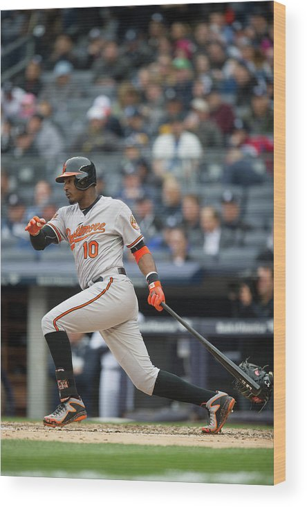 East Wood Print featuring the photograph Adam Jones by Rob Tringali