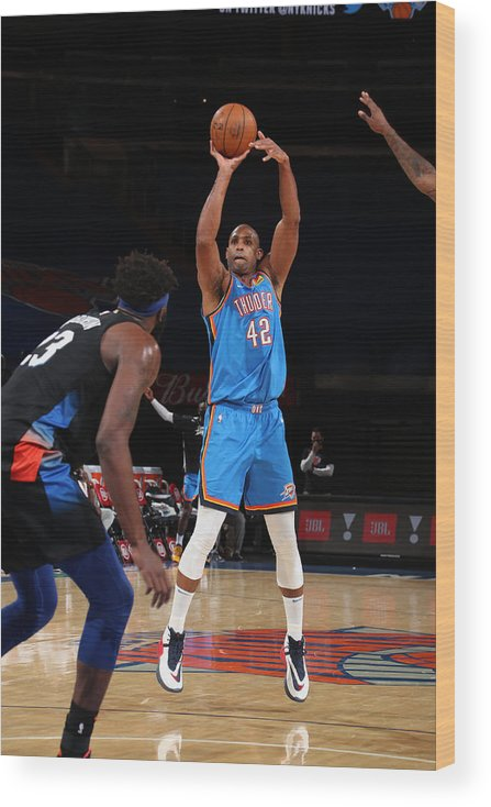 Nba Pro Basketball Wood Print featuring the photograph Al Horford by Nathaniel S. Butler