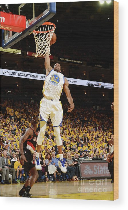 Playoffs Wood Print featuring the photograph Andre Iguodala by Noah Graham